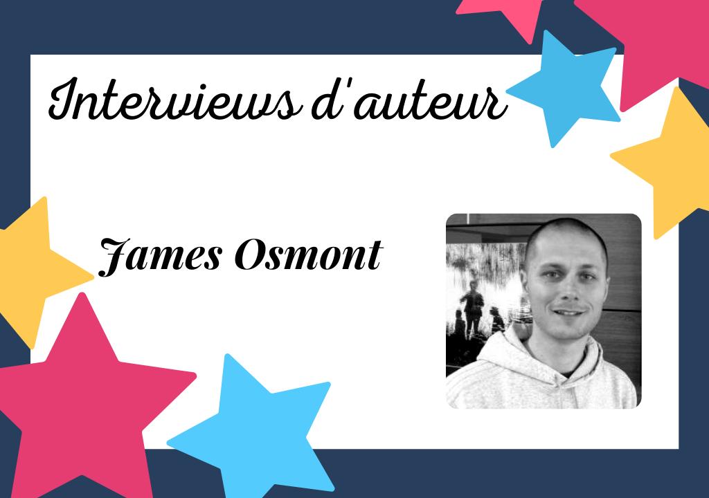 Portrait de James Osmont, auteur de thrillers psychologiques