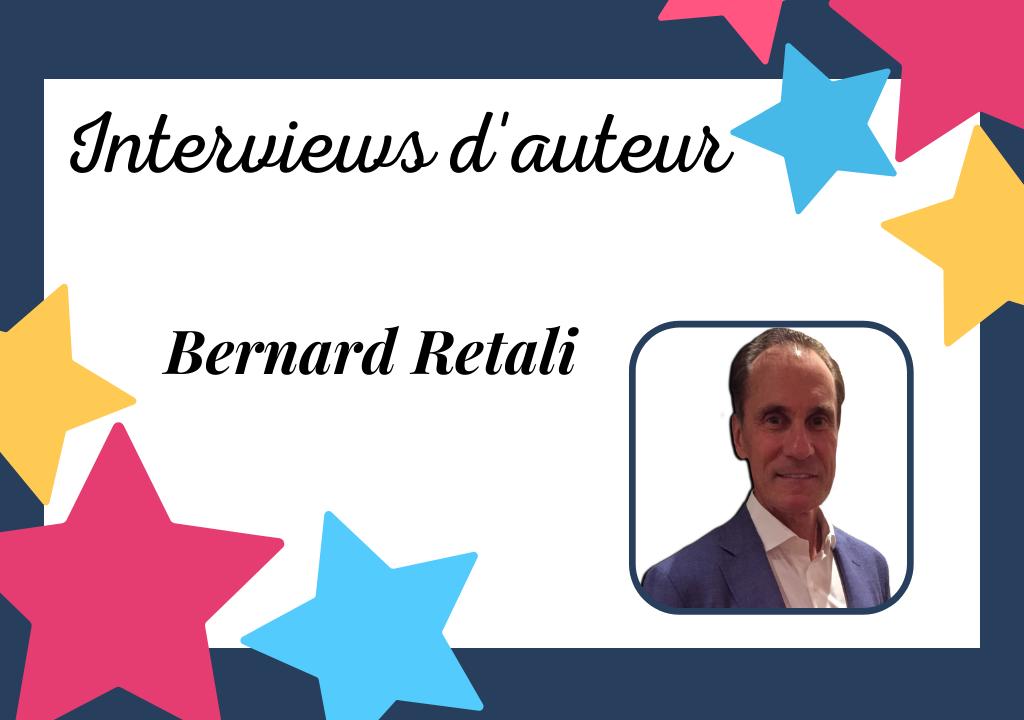 Portrait de Bernard Retali, auteur auto-édité à l'humour bien trempé